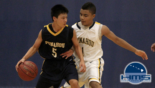 Photos: JV Boys Basketball Punahou Gold def. Punahou Blue 62-57
