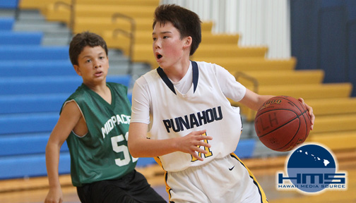 Photos: ILH Boys Intermediate II Basketball Punahou vs MPI 12-8-12