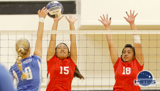 La Pietra def. Iolani in Girls Varsity II Volleyball