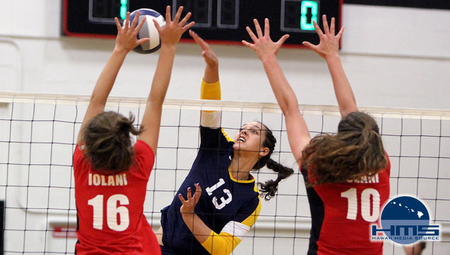 Punahou defeats Iolani 2-1 in girls volleyball