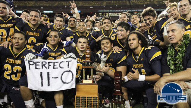 Punahou def. Mililani 28-22 in Division I State Football Title Game