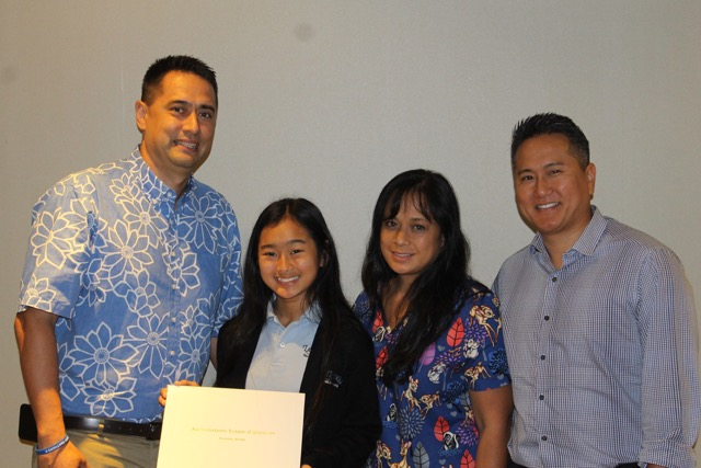 sportsmanship essay winners interscholastic league of honolulu jada araki photo