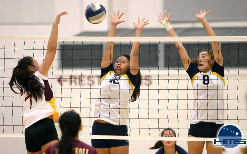 Punahou-Gold def. Maryknoll in girls JV volleyball 2-1