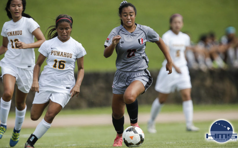 Iolani defeats Punahou 2-1 in girls varsity soccer