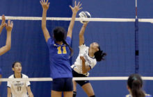 Girls Intermediate D1 Volleyball: PUN-Blue def. KSK-White in 3 games