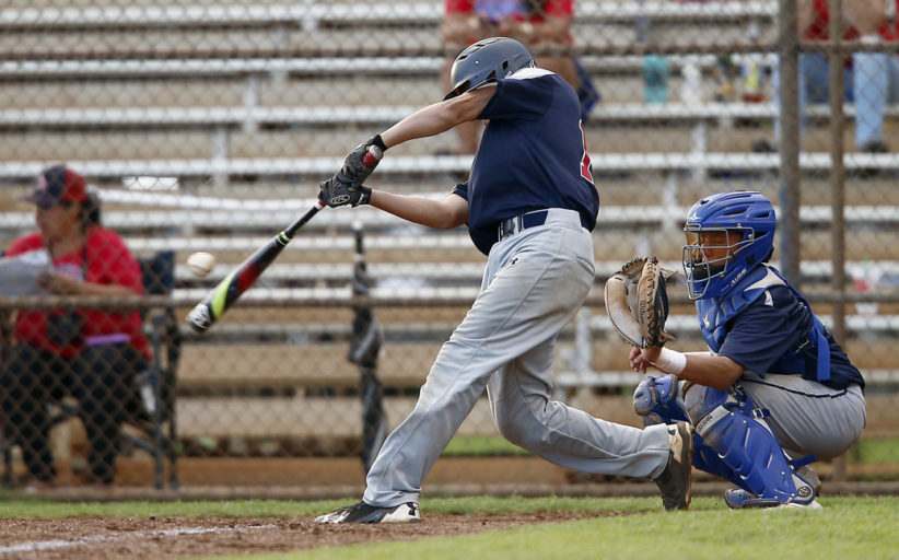 Saint Louis def. Kamehameha 11-2 in intermediate baseball