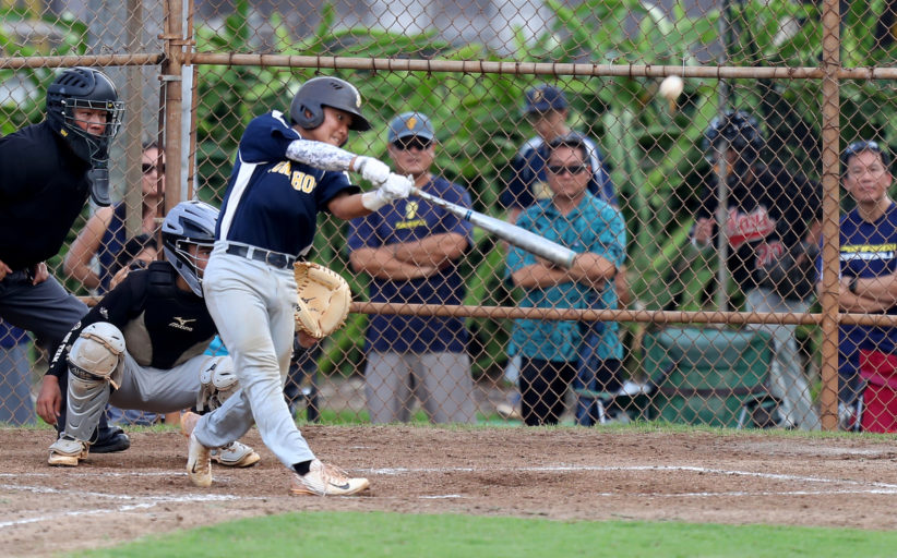 Punahou-Blue def. Iolani-Black 6-5 in intermediate baseball
